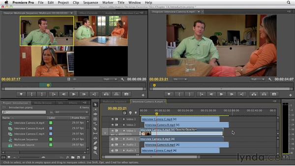 Introducing multicam editing: Premiere Pro CS6 Essential Training