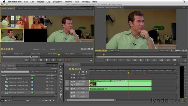 Editing a multicam clip in a Timeline: Premiere Pro CS6 Essential Training