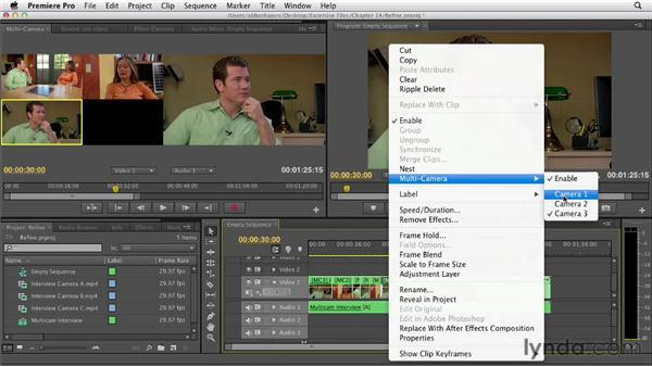 Refining a multicam edit: Premiere Pro CS6 Essential Training
