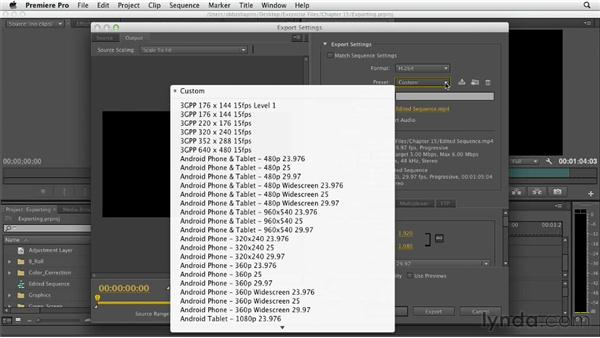 Exporting a movie: Premiere Pro CS6 Essential Training