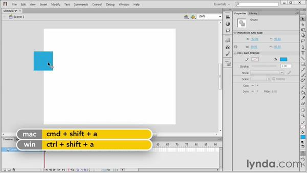 Getting to know the Flash interface: Flash Professional CS6 Essential Training