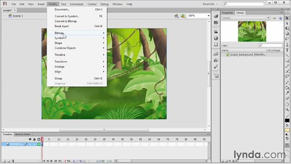Using tricks and techniques for imported imagery: Flash Professional CS6 Essential Training