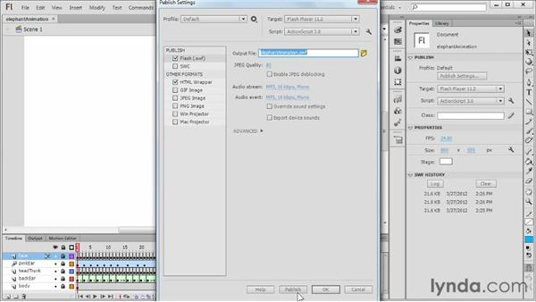 Previewing a project: Flash Professional CS6 Essential Training