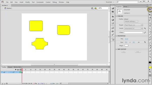 Drawing with the Rectangle and Oval tools: Flash Professional CS6 Essential Training