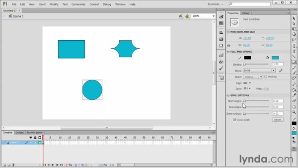 Drawing with the Rectangle and Oval Primitive tools: Flash Professional CS6 Essential Training