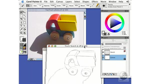 pencils and chalks: Getting Started with Corel Painter 8