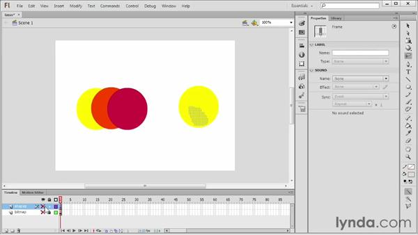 Selecting with the Lasso tool: Flash Professional CS6 Essential Training