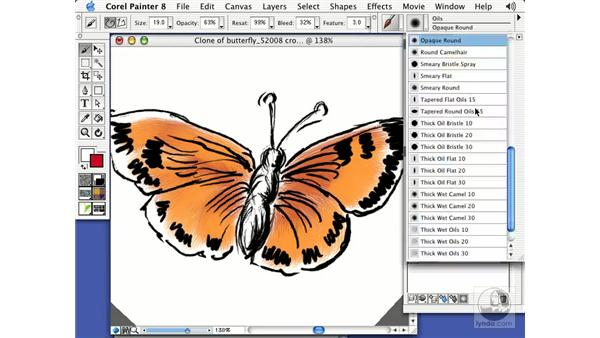 the scratchboard tool: Getting Started with Corel Painter 8