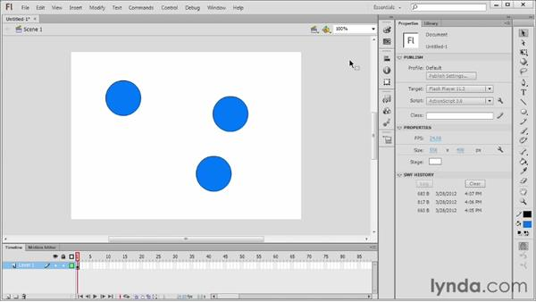 Introducing symbols: Flash Professional CS6 Essential Training