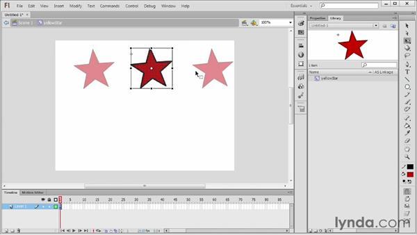 Understanding movie clip symbols: Flash Professional CS6 Essential Training