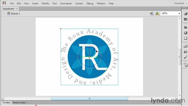 Applying 3D and color transformations to symbols: Flash Professional CS6 Essential Training