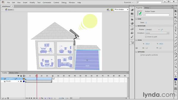 Using motion tweens in 3D space: Flash Professional CS6 Essential Training