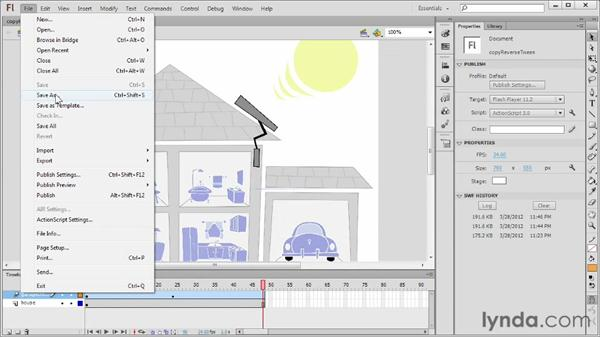Copying and reversing motion tweens: Flash Professional CS6 Essential Training