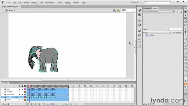 Editing multiple frames: Flash Professional CS6 Essential Training