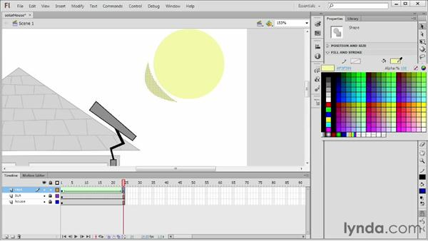 Building shape tweens: Flash Professional CS6 Essential Training