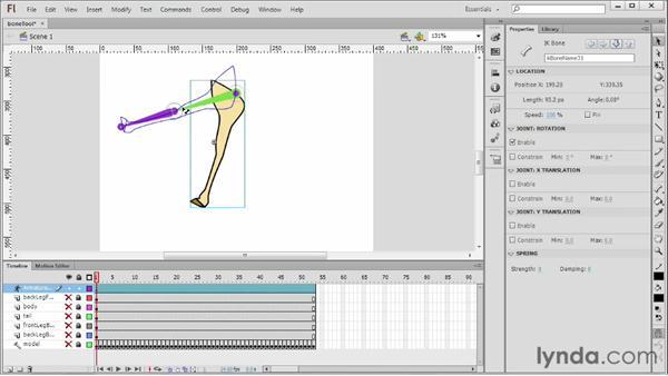 Using the Bone tool: Flash Professional CS6 Essential Training