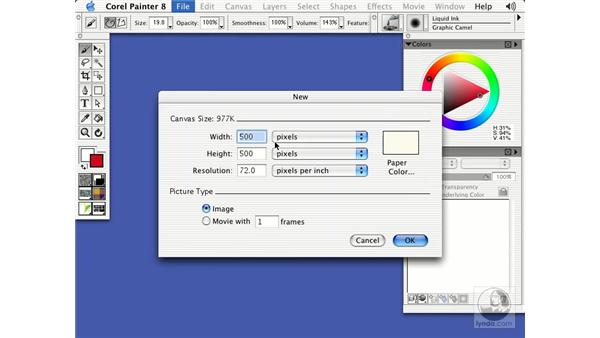 liquid ink: Getting Started with Corel Painter 8