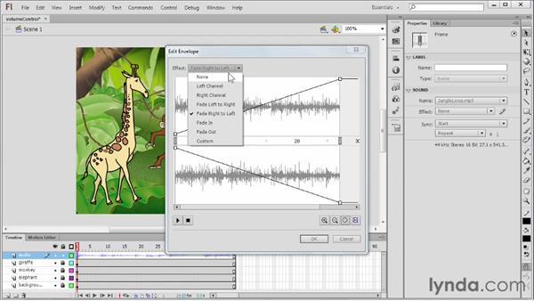 Controlling volume: Flash Professional CS6 Essential Training