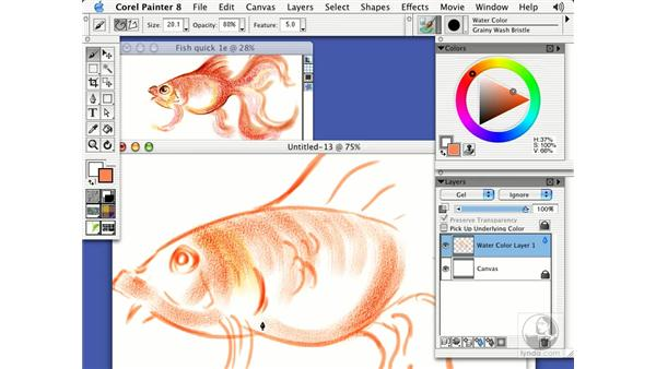painting expressively with watercolor: Getting Started with Corel Painter 8