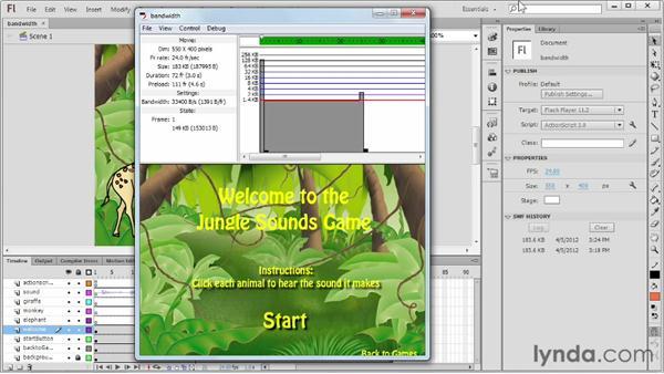 Using the Bandwidth Profiler: Flash Professional CS6 Essential Training
