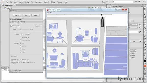 Publishing for mobile with AIR: Flash Professional CS6 Essential Training
