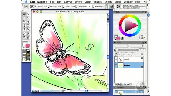 digital water color: Getting Started with Corel Painter 8