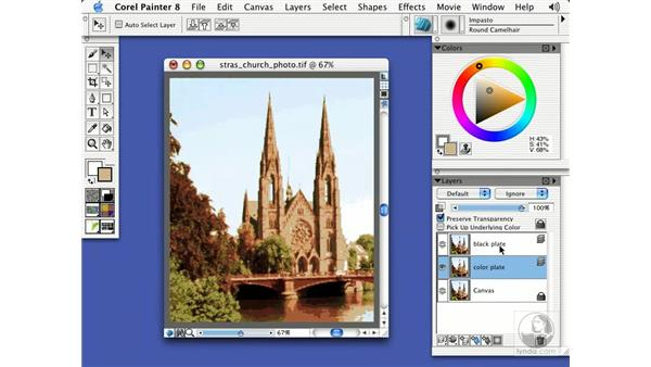 woodcut effect: Getting Started with Corel Painter 8