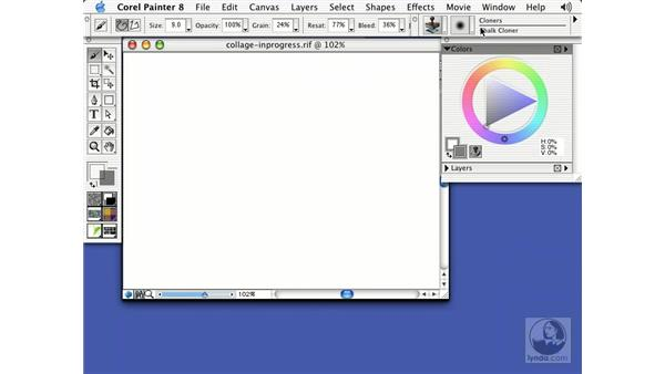 creating a collage: Getting Started with Corel Painter 8