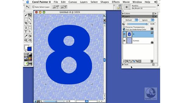 creating chrome type: Getting Started with Corel Painter 8