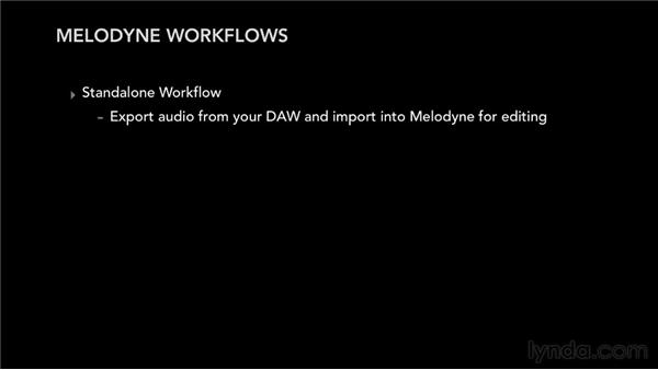 Choosing the best workflow for a project: Melodyne Studio Essential Training