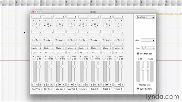 Exploring the Mixer window: Melodyne Studio Essential Training