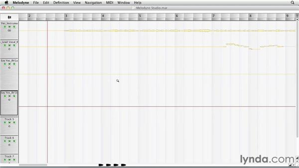 Scrolling and zooming: Melodyne Studio Essential Training