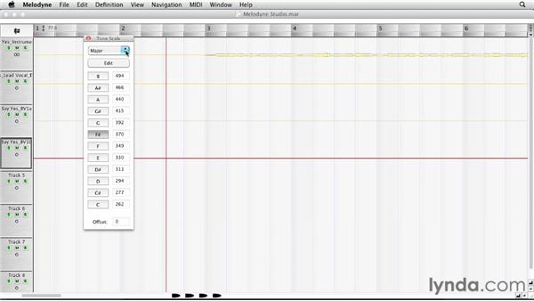 Setting the tone scale, meter, and tempo: Melodyne Studio Essential Training
