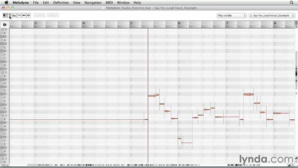 A look at note blobs: Melodyne Studio Essential Training