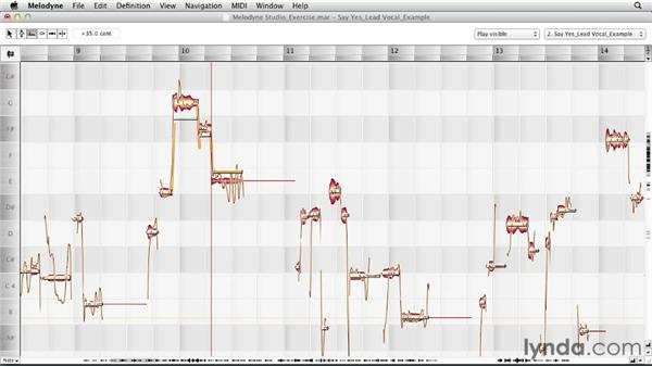 Using the Edit Formant tool: Melodyne Studio Essential Training