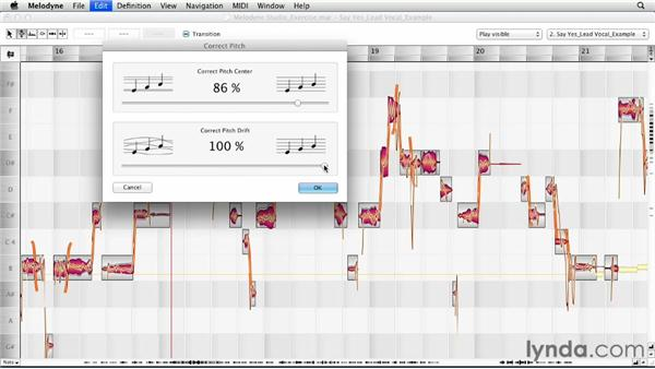 Correcting pitch and time automatically: Melodyne Studio Essential Training