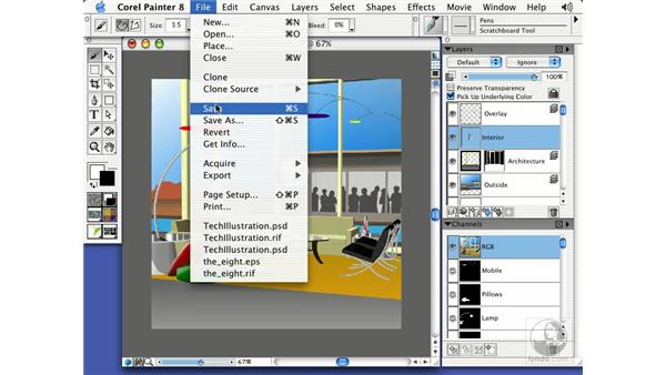 Painter files in Photoshop: Getting Started with Corel Painter 8