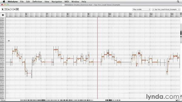 Editing an example exercise, part one: Melodyne Studio Essential Training