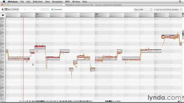 Editing an example exercise, part two: Melodyne Studio Essential Training