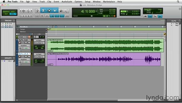 Exporting with Spot to Pro Tools: Melodyne Studio Essential Training