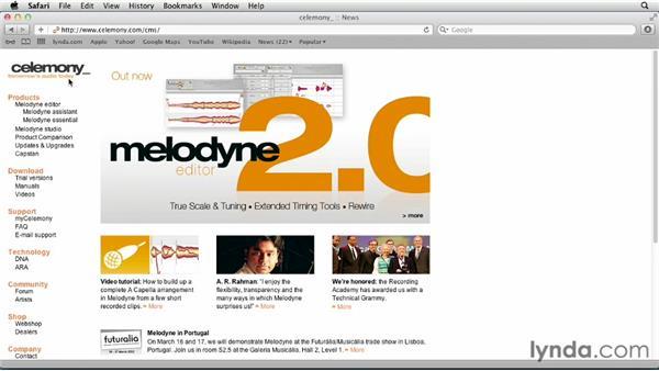 Exploring additional resources: Melodyne Studio Essential Training