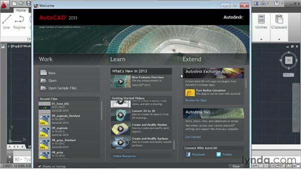Launching the application: AutoCAD 2013 Essentials: 01 Interface and Drawing Management