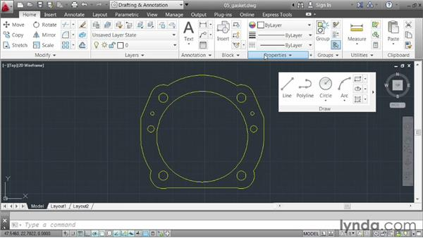 Saving a workspace: AutoCAD 2013 Essentials: 01 Interface and Drawing Management
