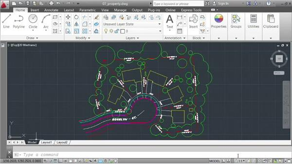 Monitoring the status bar: AutoCAD 2013 Essentials: 01 Interface and Drawing Management