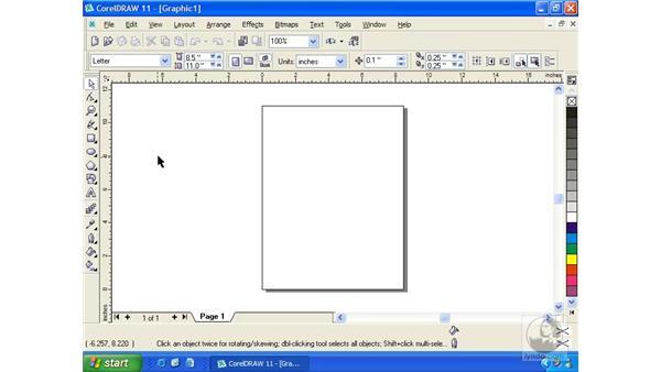 CorelDRAW interface: Getting Started with CorelDRAW 11
