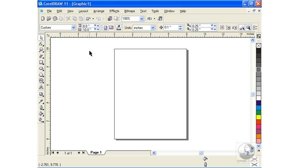 setting up a page: Getting Started with CorelDRAW 11