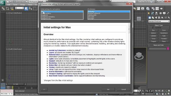 Setting user interface defaults: 3ds Max 2013 Essential Training