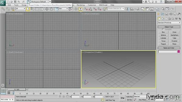 Using project folders: 3ds Max 2013 Essential Training