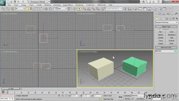 Using the Create and Modify panels: 3ds Max 2013 Essential Training