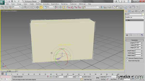 Transforming objects: 3ds Max 2013 Essential Training